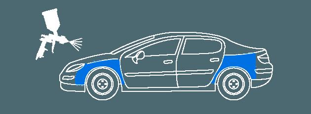 Покраска крыла авто