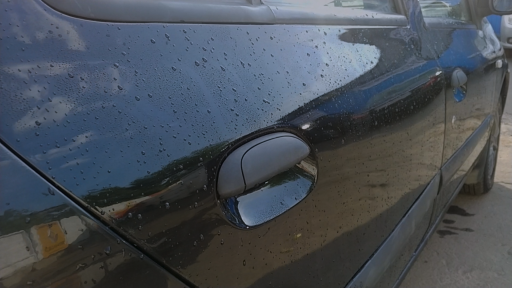 Ремонт двери автомобиля: состояние после ремонта и покраски