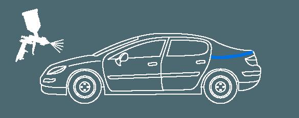 Покраска проёма багажника