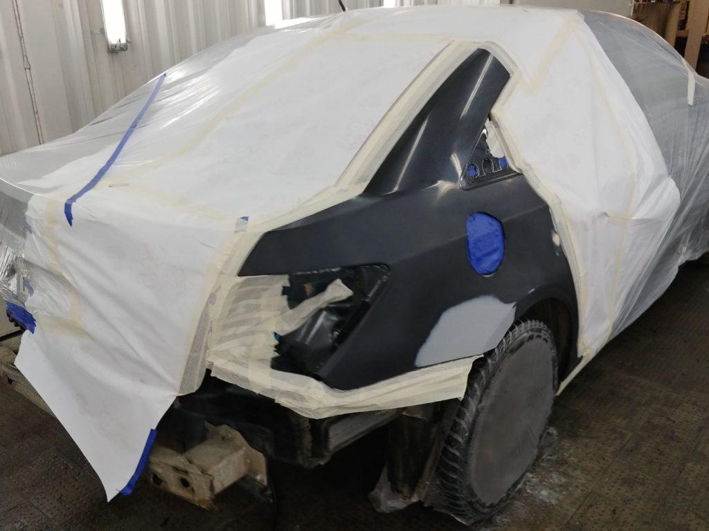 Chevrolet Cruze: ремонт и покраска крыла