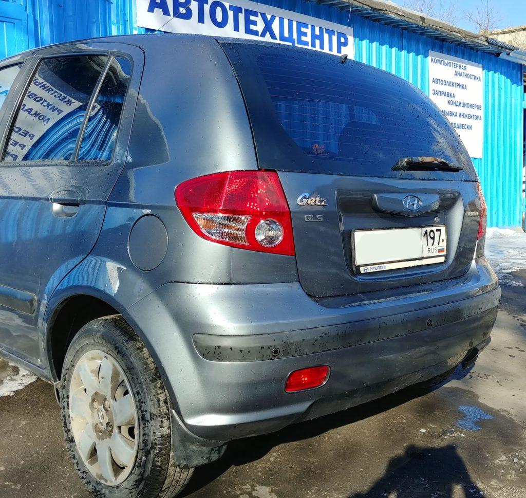 Hyundai Getz: состояние после ремонта и покраски