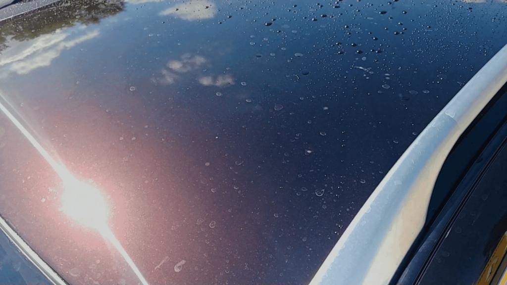 Покраска крыши авто: результат