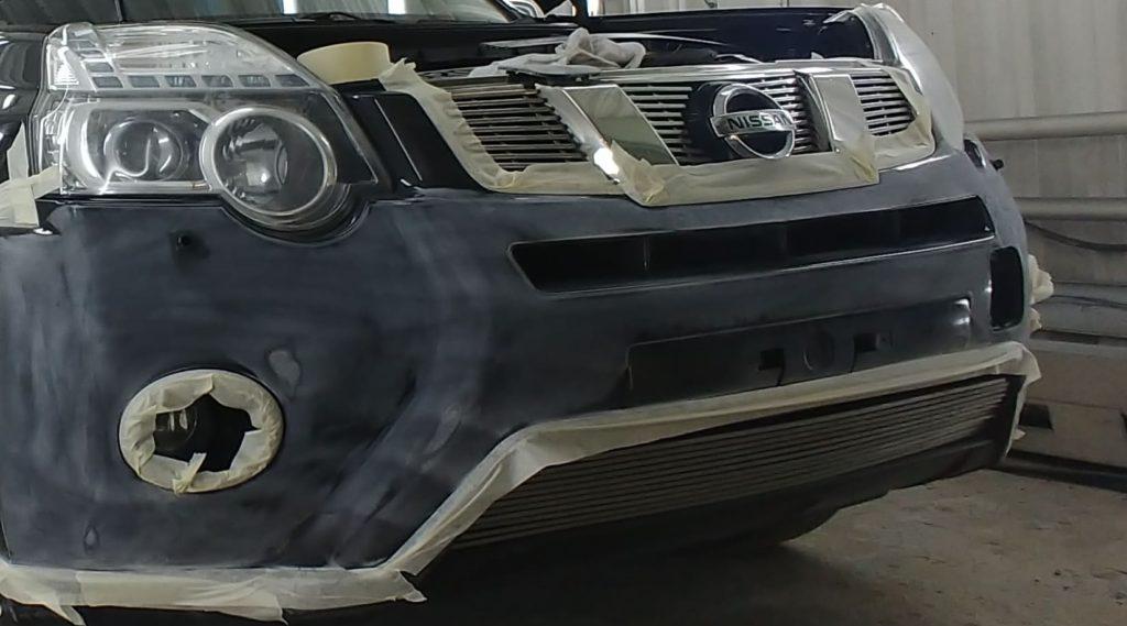 Покраска бампера Nissan X-Trail